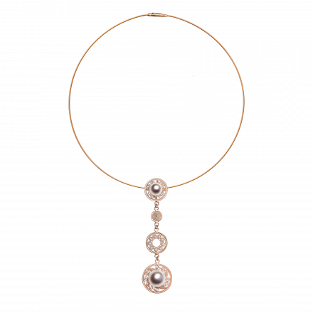 Rose gold pendant & necklace