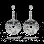 墨翠钻石耳环