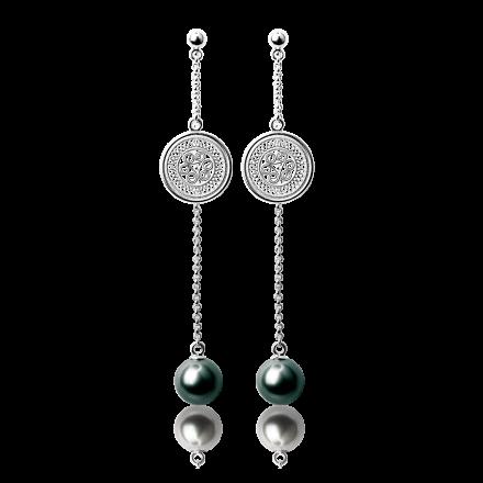 耳环2-银色(黑珠)