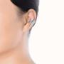 model_silver ear clip
