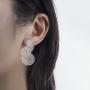 Earring model 1_overlap fortune drum silver