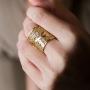 long ring yellow gold model