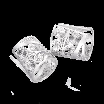 pendant_ear clip_silver