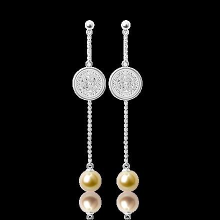 耳环2-银色(金珠)
